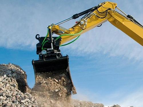 Steelwrist tiltrotator excavation bucket