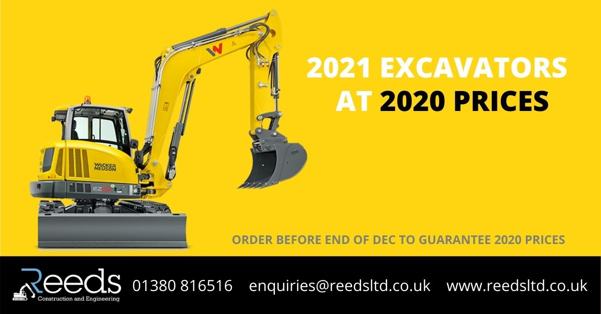 Reeds Excavators OFFER 2021 at 2020 prices