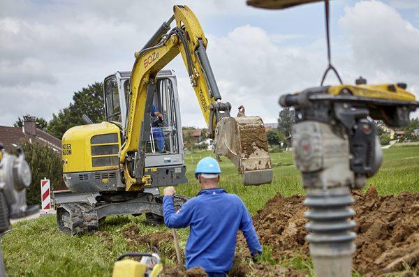 Wacker 50Z3 Mini Excavator trench