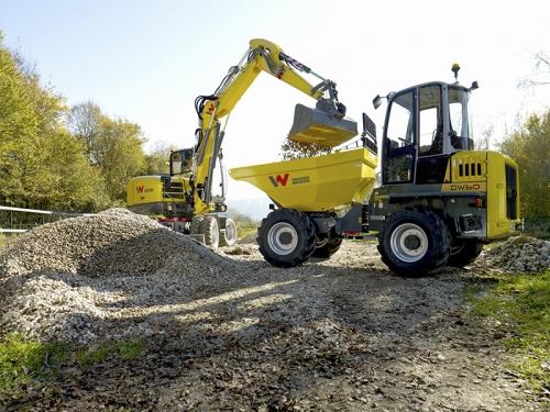 Wacker DW60 Dumper loading