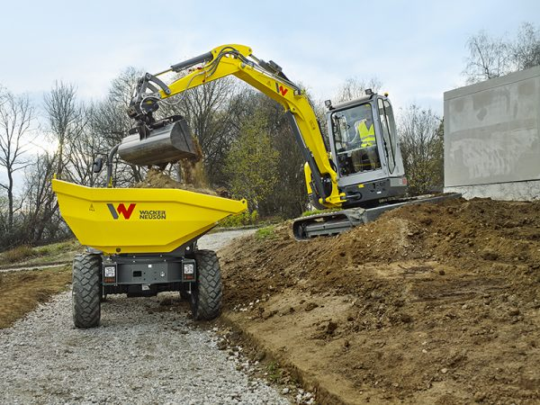 Wacker EZ53 and DW50 in action