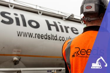 Hired silo vehicle with Reeds worker