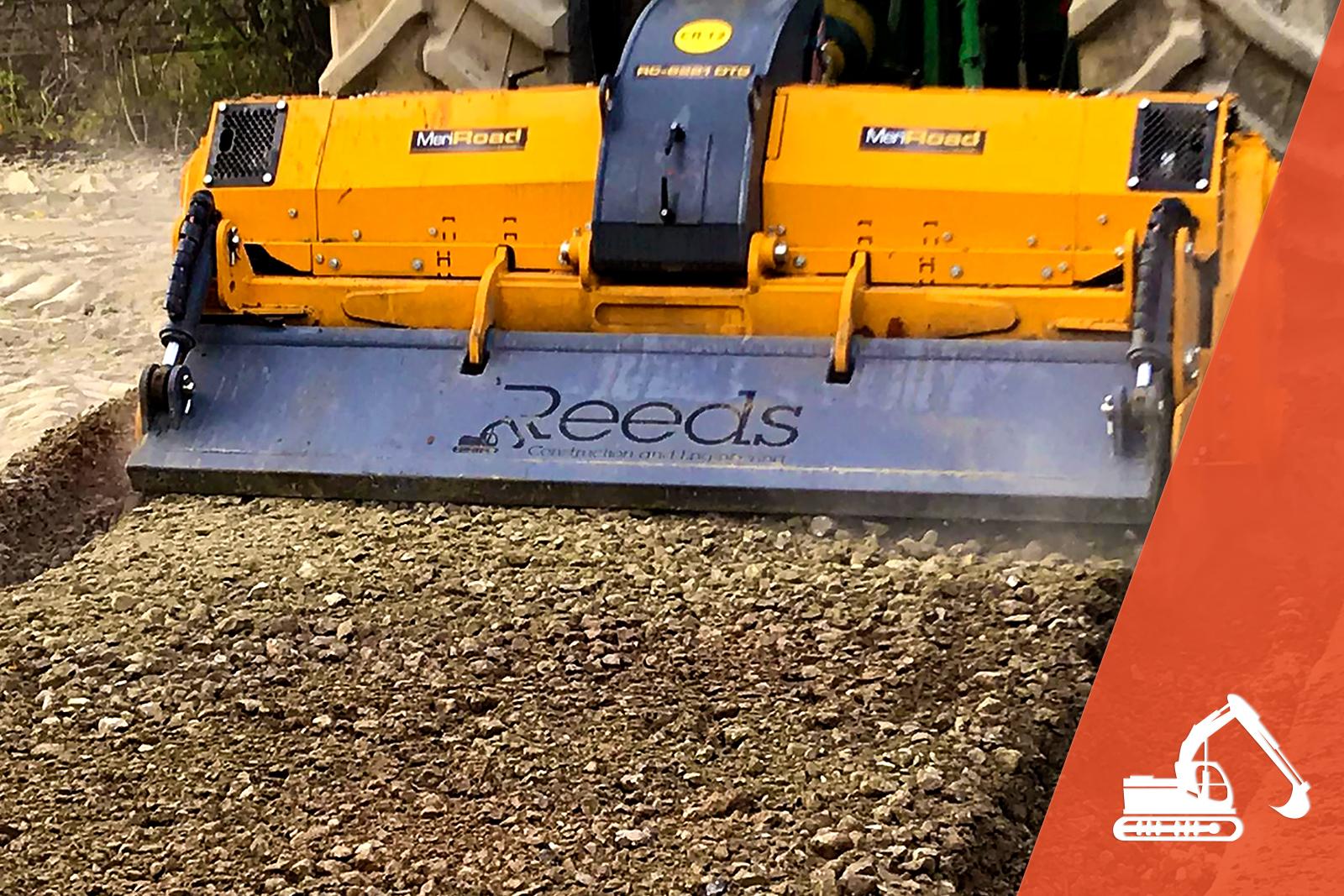 Reeds track stabilisation vehicle on track